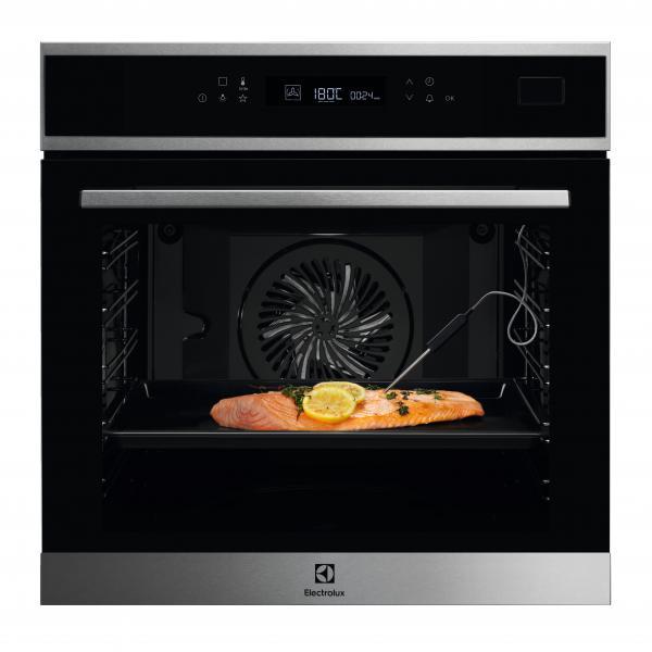 Electrolux EOB7S01X - Forno da Incasso CombiSteam Deluxe, SteamBoost, Termosonda, Pizza, 60 cm, A+