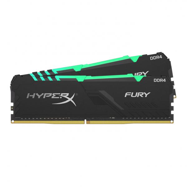 16GB (2x8GB) HyperX Fury RGB DDR4-3200 CL16 RAM Gaming Arbeitsspeicher