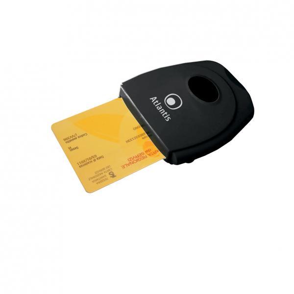 Atlantis Land P005-SMARTCR-U Nero lettore di card readers 8026974013206 P005-SMARTCR-U 10_R290380