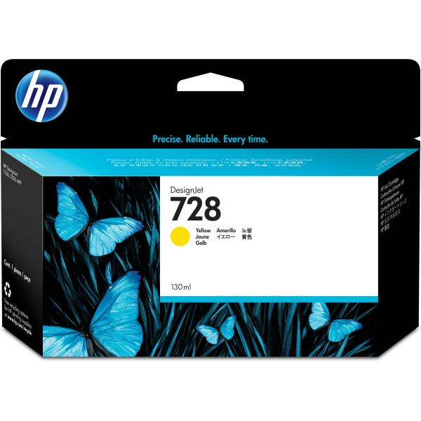 130ml Yellow compa Hp Designjet T730 ,T830 #728Y