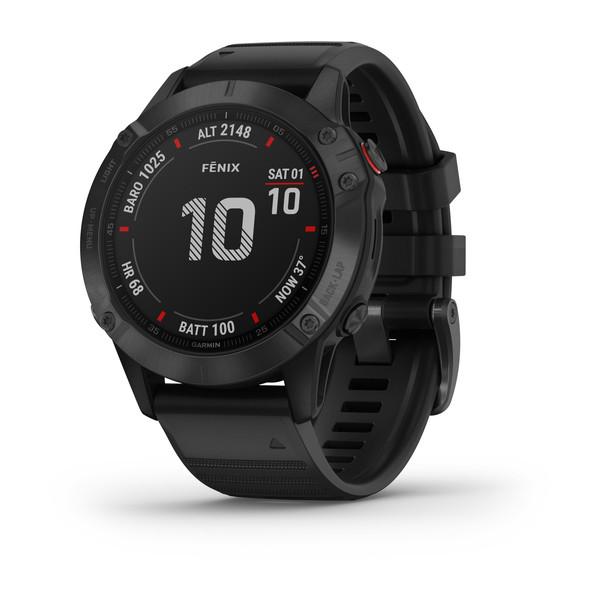 Garmin Fenix 6 Pro GPS-Multisport-Smartwatch schwarz mit schwarzem Armband
