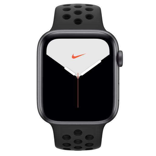 Watch Nike+ Series 5 GPS, Aluminium space grau, 44 mm mit Nike Sportarmband, anthrazit/schwarz