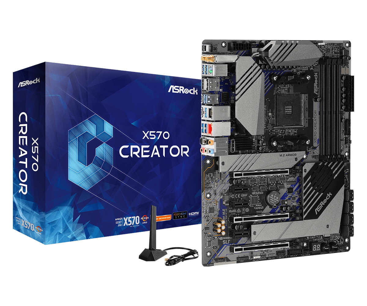 Asrock X570 Creator AMD X570 Presa AM4 ATX