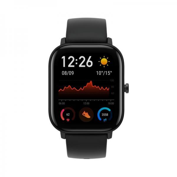 Amazfit GTS Smartwatch Aluminium-Gehäuse, schwarz, Amoled-Display