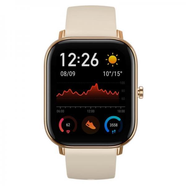 Amazfit GTS Smartwatch Aluminium-Gehäuse, gold, Amoled-Display