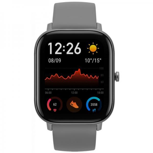 Amazfit GTS Smartwatch Aluminium-Gehäuse, grau, Amoled-Display