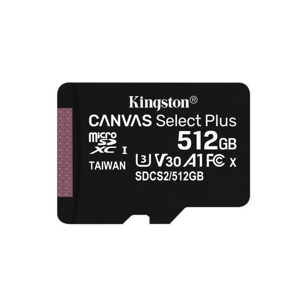 Kingston Technology Canvas Select Plus memoria flash 512 GB SDXC UHS-I Classe 10