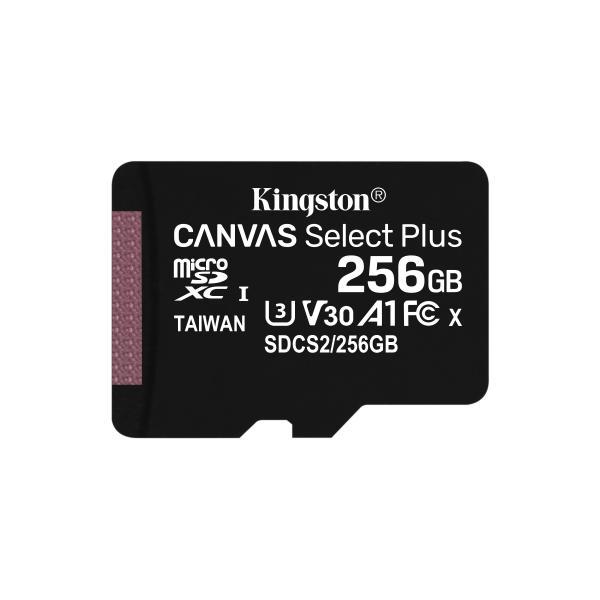 Kingston Technology Canvas Select Plus memoria flash 256 GB MicroSDXC UHS-I Classe 10