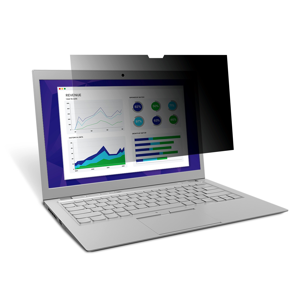3M 7100207900 schermo anti-riflesso Filtro per la privacy senza bordi per display