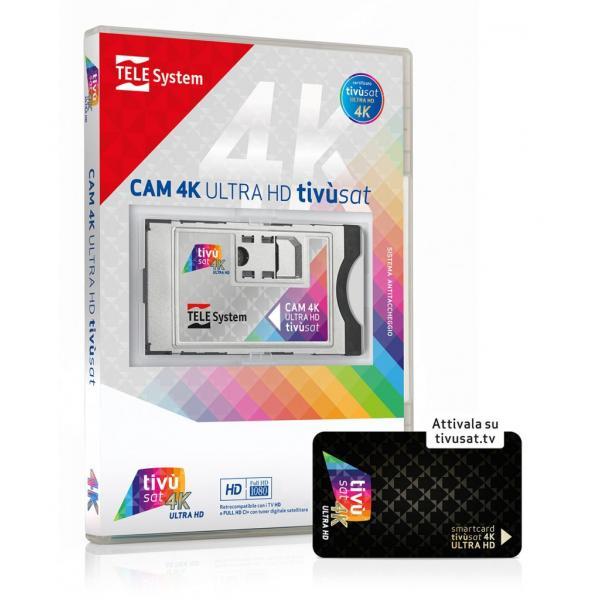 TELE System CAM tivùsat 4K Ultra HD Modulo di accesso condizionato (CAM)