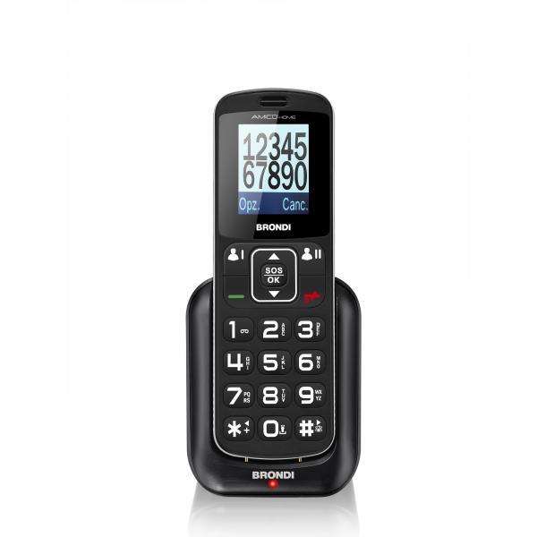 """Amico Home Senior Phone Dispaly 1.77"""" con Tasti Grandi + Tosto SOS Bluetooth Colore Nero"""
