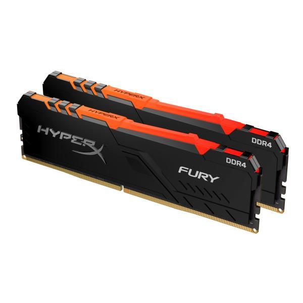16GB (2x8GB) HyperX Fury RGB DDR4-3600 CL17 RAM Gaming Arbeitsspeicher Kit