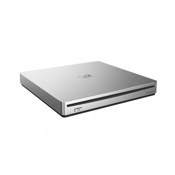Pioneer BDR-XS07TS Blu-ray Recorder, USB 3.1, 6x/8x/24x, silber, Retail