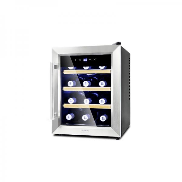 Cecotec 02304 - Grand Sommelier 1200 CoolWood, Cantinetta Vino, 12 Bottiglie, Classe A+