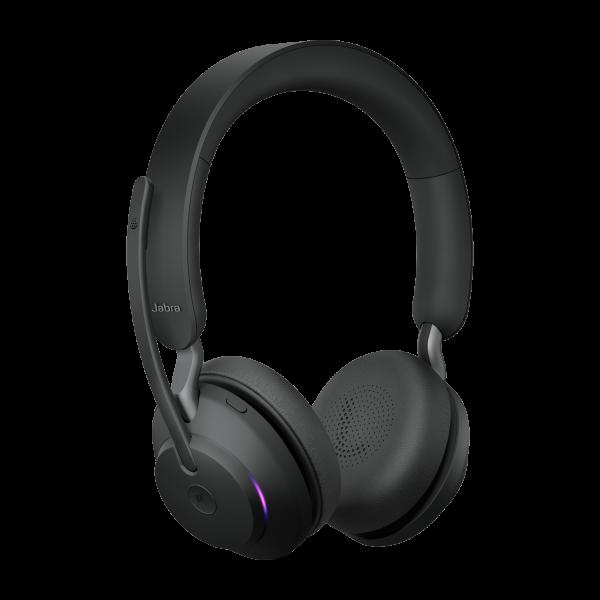 Jabra Evolve 2 65 MS Wireless Bluetooth Stereo Headset m. Ladestation schwarz
