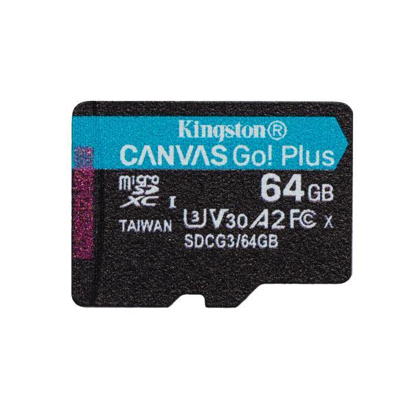 Kingston Technology Canvas Go! Plus memoria flash 64 GB MicroSD UHS-I Classe 10