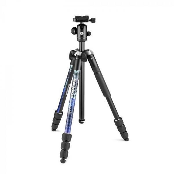 Manfrotto Element MII Aluminium treppiede Fotocamere digitali/film 3 gamba/gambe Nero, Blu