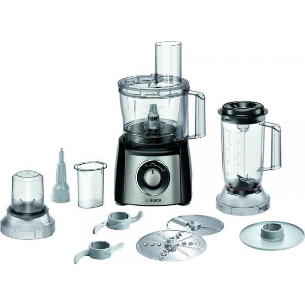 Bosch MCM3PM386 Küchenmaschine MultiTalent 3 Plus 900W Schwarz, Edelstahl