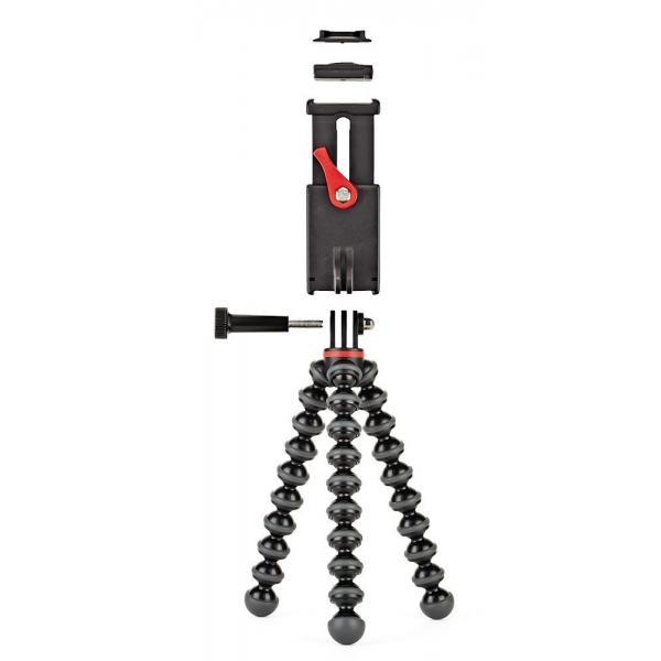 Joby GripTight Action Kit treppiede Action camera 3 gamba/gambe Nero, Rosso