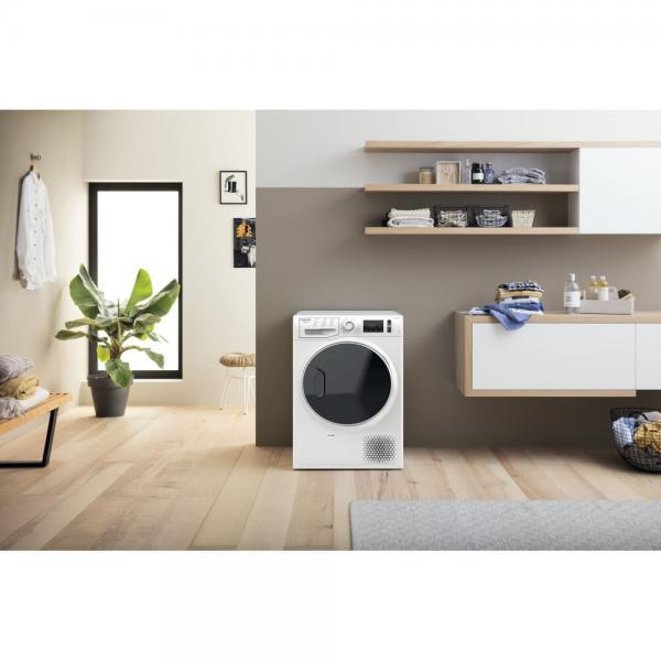 Hotpoint NT M11 9X3E IT - Asciugatrice a Carica Frontale, 9 Kg , Nero, Bianco, Classe A+++