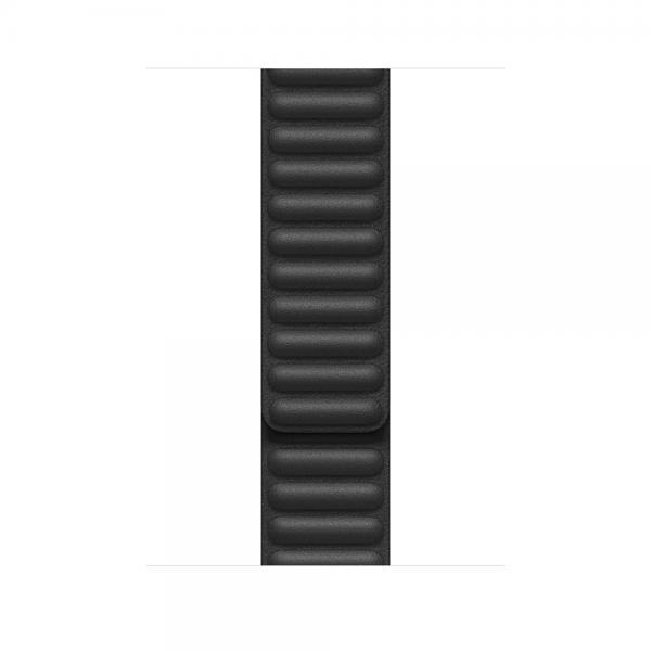 44mm Black Leather Link - Large