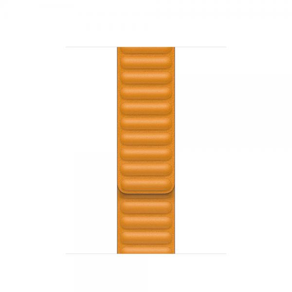 40mm California Poppy Leather Link - Large