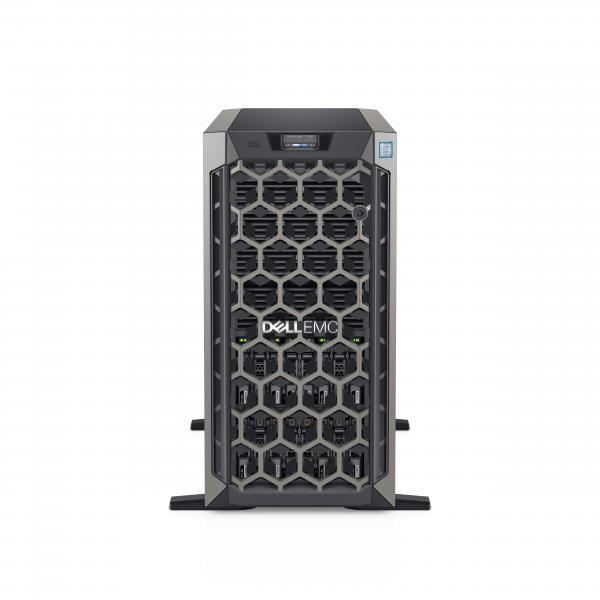 DELL POWEREDGE T640 SERVER TOWER 5U XEON SILVER 4210R 2.4GHz RAM 16GB-SSD 480GB-NO S.O. BLACK (5WC10) 5WC10