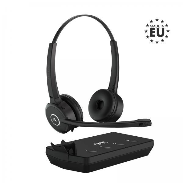 Auricolari con Microfono Axtel AXH-PRX3D Nero Senza Fili