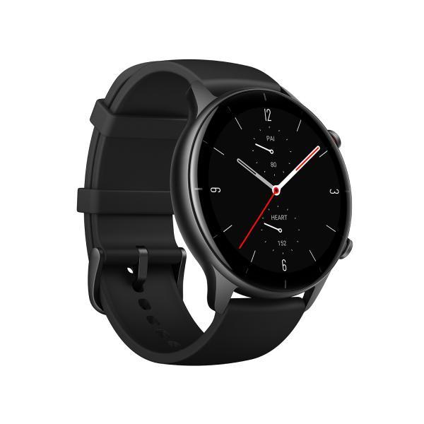 Amazfit GTR 2e Smartwatch GPS HR-Sensor Alu-Gehäuse, Armband schwarz
