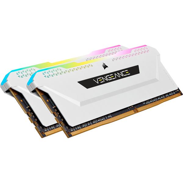 16GB (2x8GB) Corsair Vengeance RGB PRO SL DDR4-3200 RAM CL16 (16-20-20-38) Weiß
