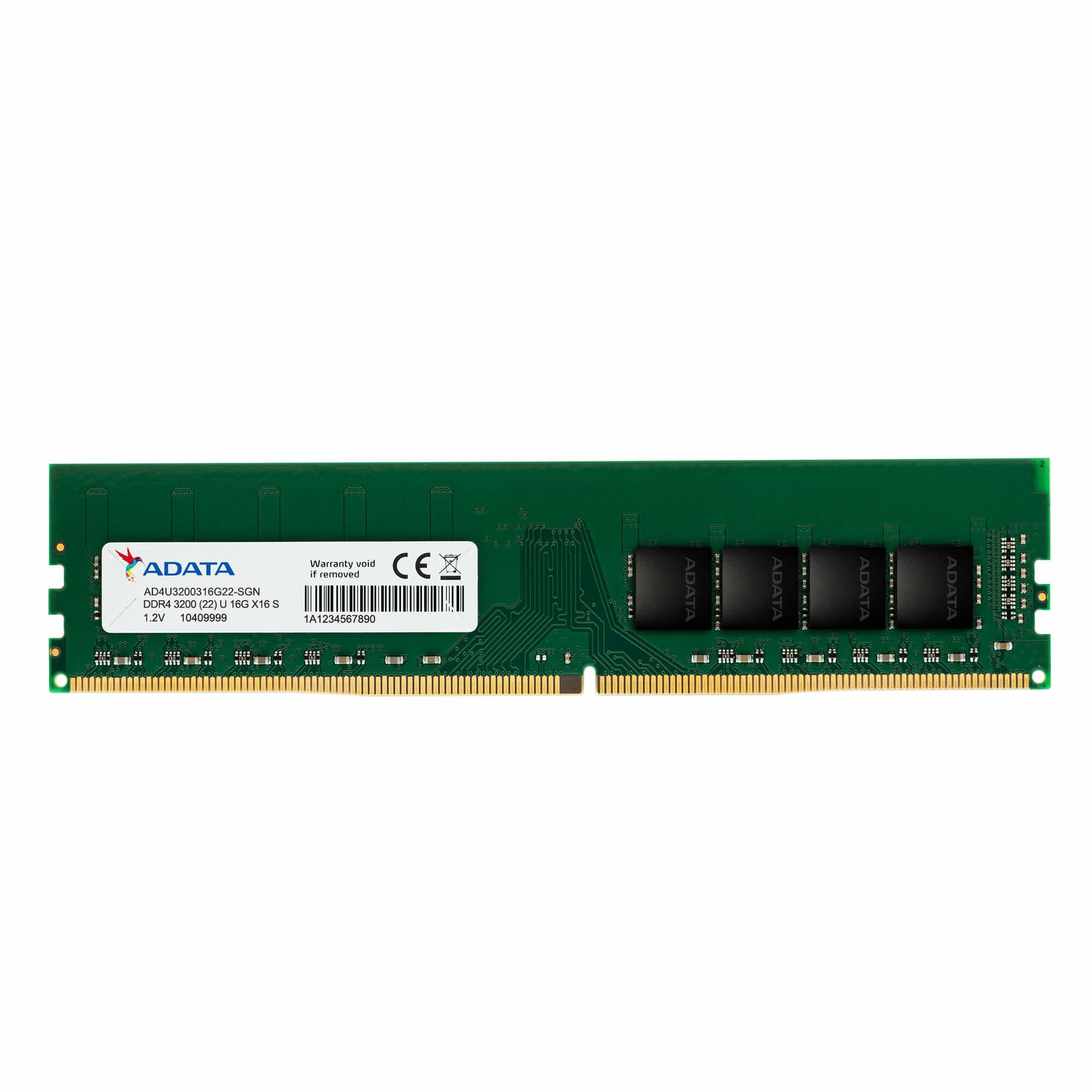 ADATA AD4U320016G22-SGN memoria 16 GB 1 x 16 GB DDR4 3200 MHz