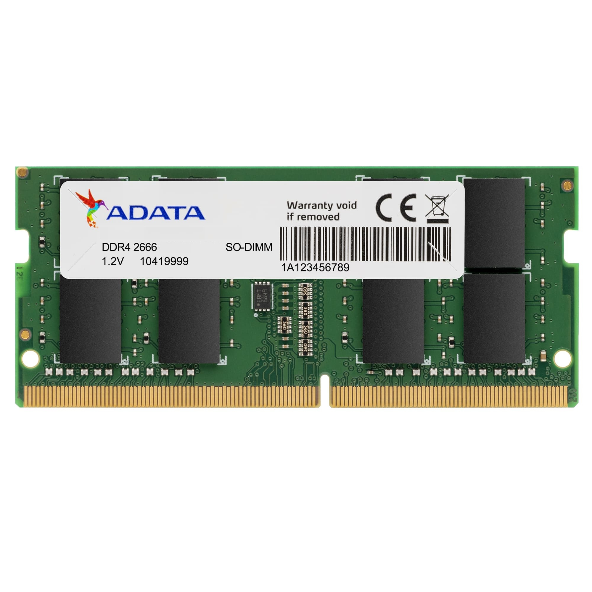 ADATA AD4S266688G19-RGN memoria 8 GB 1 x 8 GB DDR4 2666 MHz