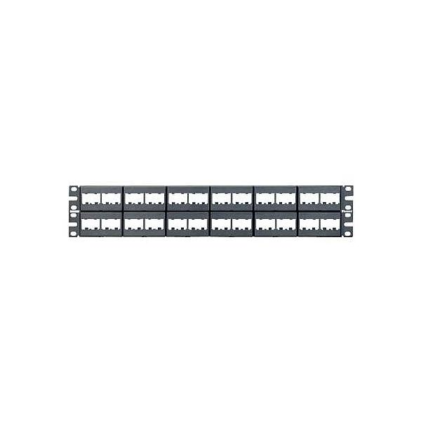 Panduit 48-port modular patch panel 2U pezzo di pannello  CPP48WBLY 03_CPP48WBLY