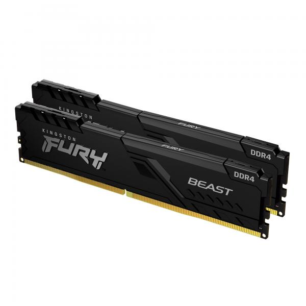 16GB (2x8GB) KINGSTON FURY Beast DDR4-3600 CL17 RAM Gaming Arbeitsspeicher Kit