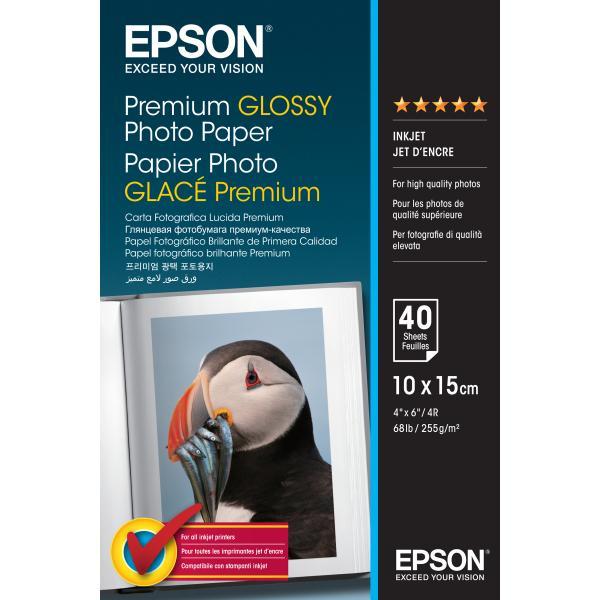 Epson Epson Premium Glossy Photo Paper - 10x15cm - 40 Fogli carta fotografica