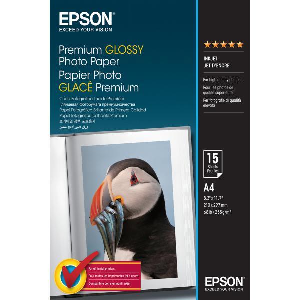 Epson Epson Premium Glossy Photo Paper - A4 - 15 Fogli carta fotografica