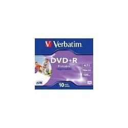 Verbatim Verbatim DVD+R Wide Inkjet Printable ID Brand 4,7 GB 10 pezzo(i)