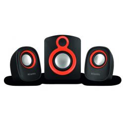 Atlantis by Nilox Atlantis Land Soundmaster 900 set di altoparlanti 2.1 canali 7 W Nero, Rosso