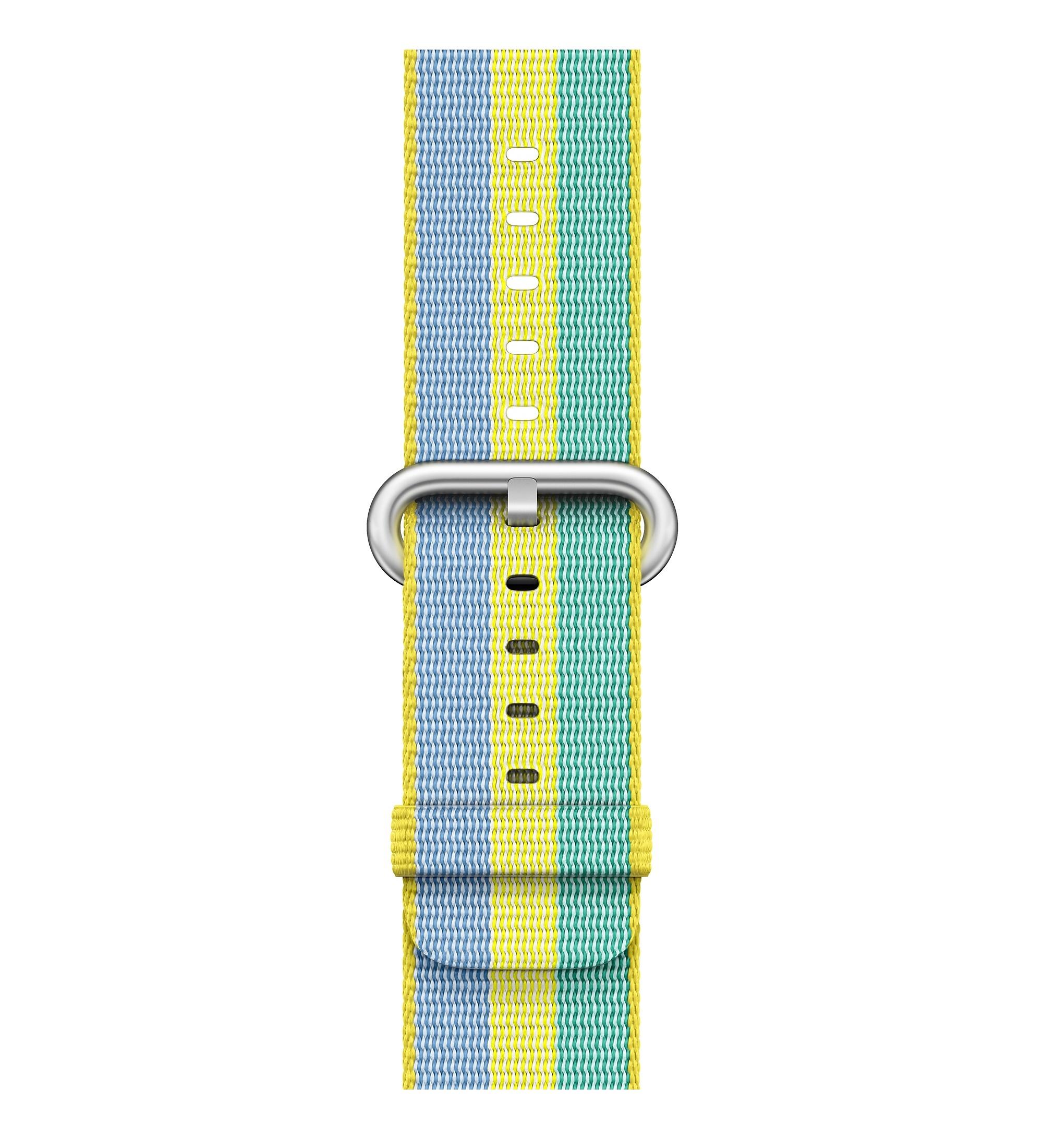 Apple Apple Cinturino in nylon intrecciato giallo limone (38 mm)