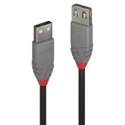 Lindy Lindy 36703 cavo USB 2 m USB A Nero, Grigio