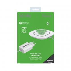 Celly Celly WLKIT3IN1WH Caricabatterie per dispositivi mobili Bianco Interno