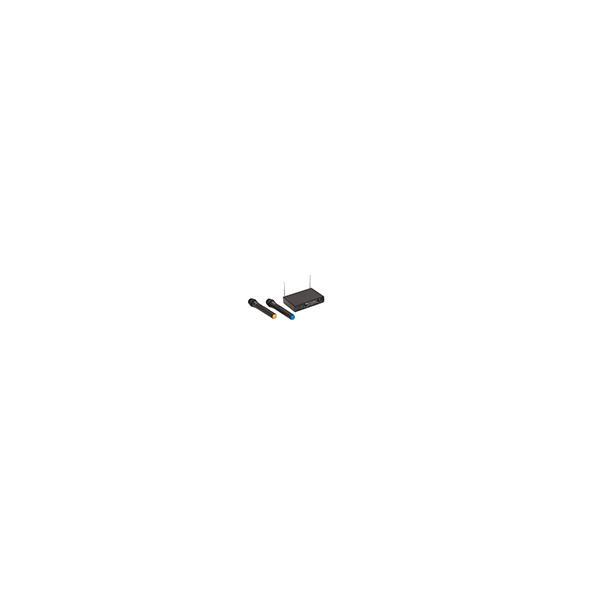 RADIOMIC. VHF DOPPIO SOUNDSATION WF-V21HHA 2 HANDMIC 213.0 - 215.5MHz
