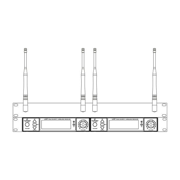 KIT MONT. A RACK SOUNDSATION WF-RACK KIT2 PER RADIOMICROFONI WF