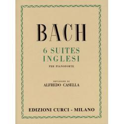 CURCI - BACH 6 suites inglesi per pianoforte - REV DI ALFREDO CASELLA