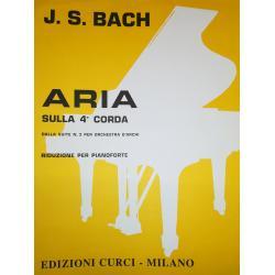 CURCI - BACH Aria sulla 4a corda riduzione per pianoforte - DALLA SUITE N3 PER ORCHESTRA D'ARCHI