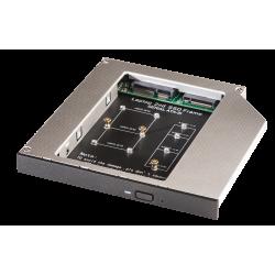 Adattatore per SSD mSATA & M.2 in slot slim per CD/DVD/BD (alti fino a 12.7mm)