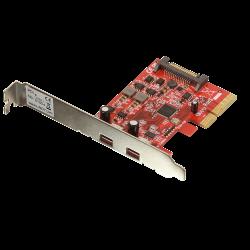 Scheda PCIe USB 3.1, 2 porte Tipo-C