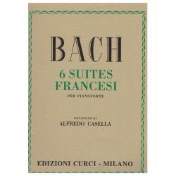 CURCI - BACH 6 suites francesi per pianoforte  - REV DI ALFREDO CASELLA