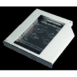 Adattatore per Hard Disk SATA in slot slim per CD/DVD/BD (alti fino a 12.7mm)