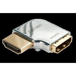 Adattatore HDMI CROMO? Tipo A M/F a 90 gradi ''Sinistra''